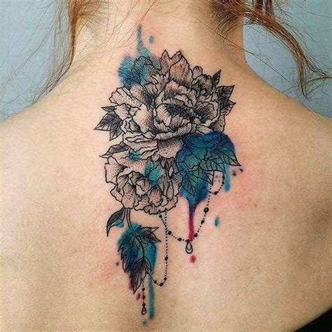tattoo flower neck back neck chrysanthemum flower tattoo flowers tattoo