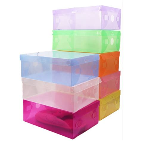 plastic stackable shoe storage boxes 5x transparent clear plastic shoe boxes stackable foldable