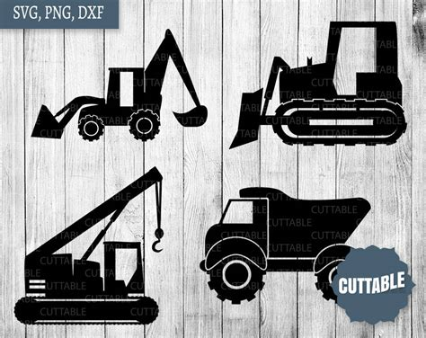 construction svg construction vehicles cutting files svg