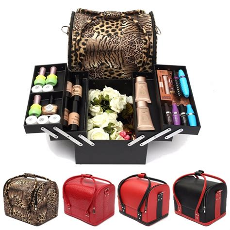 hair and makeup travel case professional large beauty cosmetic organizer box make up