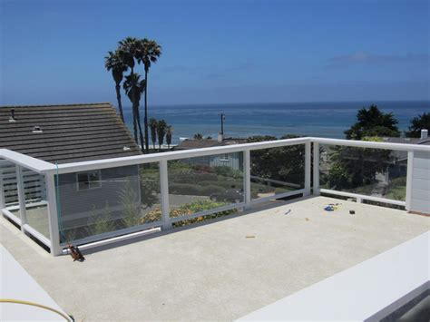 Tempered Glass Balcony tempered glass balcony railing sunset cliffs patriot glass and mirror san diego ca