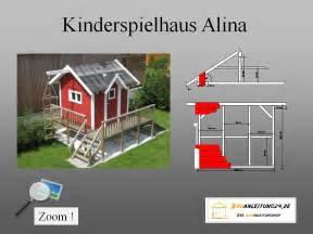 bauplan kinderspielhaus ohne terrasse