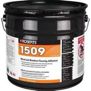roberts 4 gal wood and bamboo flooring urethane adhesive r1509 4 8p the home depot