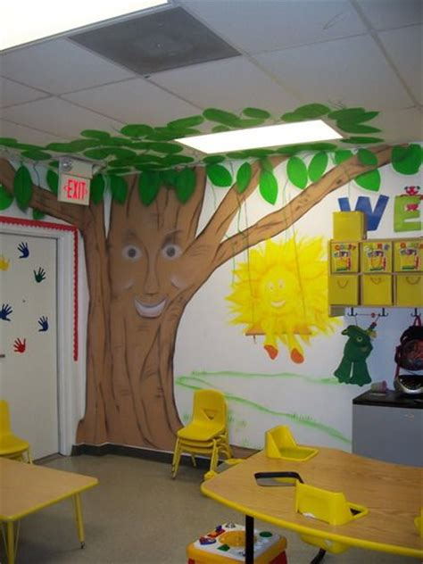 Cute Funny Trees Nursery Wall Decals Stickers For Nursery School Decorating Ideas