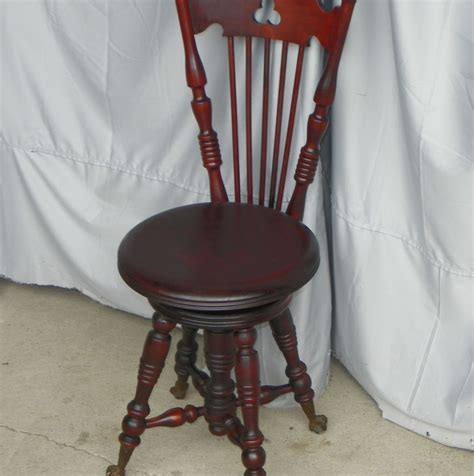 Piano Stool With Back by Bargain S Antiques 187 Archive Antique Mahogany Piano Stool With Back Bargain S