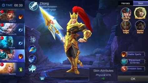 tutorial mobile legend zilong mobile legends 2 hero zilong youtube