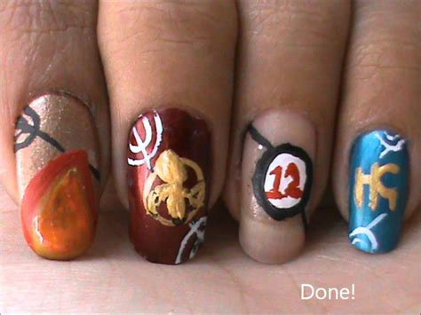 design nail art games nail art designs hunger games nail design hunger games