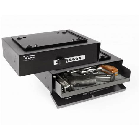 Desk Gun Safe by V Line 3912 Sh Hide Away Desk Release Pistol