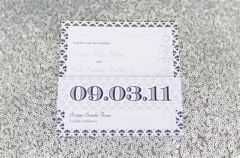 navy white and silver wedding invitations modern wedding invitations white navy silver onewed