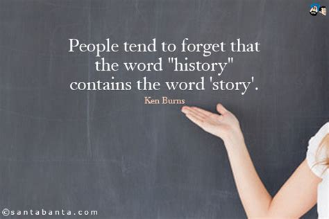 origin of the word tend to forget that the word quot his by ken burns like success