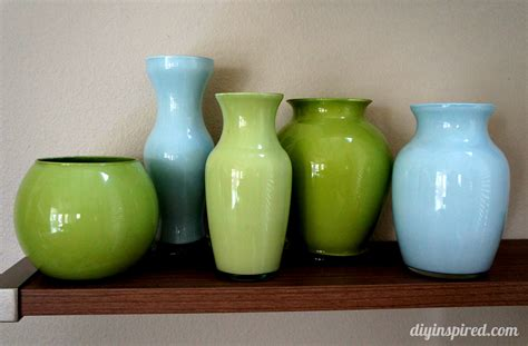painted colored glass vases diy inspired