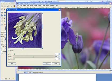 gimp tutorial unsharp mask non destructive sharpening with popular freeware editor