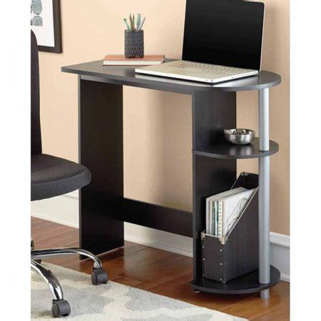 Metal Computer Desk With Shelves by Mainstays Computer Desk With Built In Shelves Black