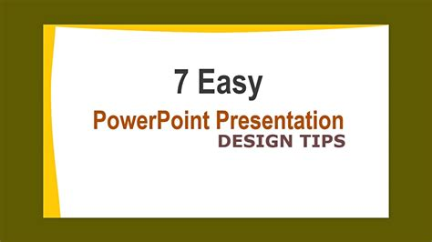 powerpoint design youtube powerpoint presentation design tips how to design