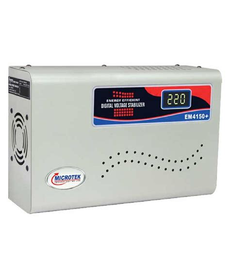 Ac Voltage Stabilizer microtek em4150 voltage stabilizer upto 1 5ton ac price