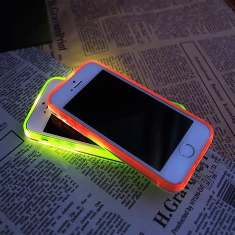 Casing Iphone 6 Fashion Blink Silicone Soft Back shop rock tpu incoming call led blink transparent