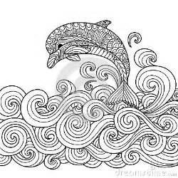 delphin zentangle vektor abbildung bild 63317768