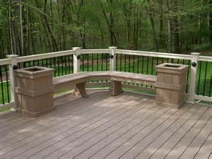 Corner Deck Bench Your Deck Options Options On Deck Railing Lighting