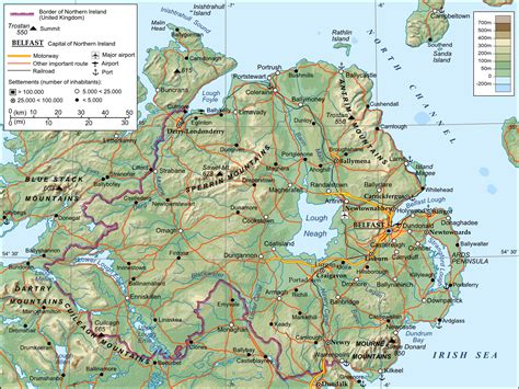 detailed map of maps of ireland detailed map of ireland in