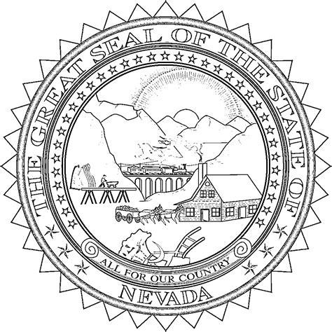 nevada flags emblems symbols outline maps