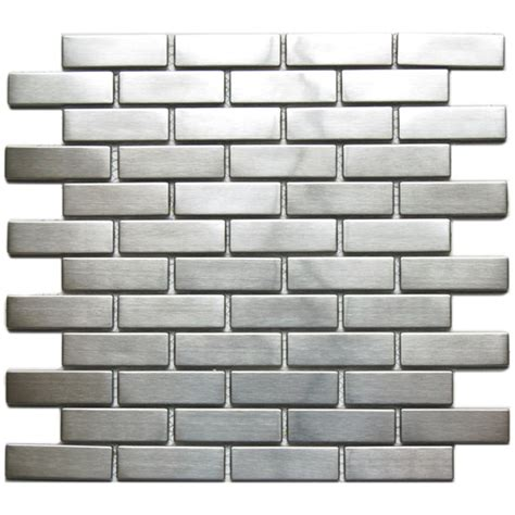 mosaic tile large brick pattern mosaic stainless