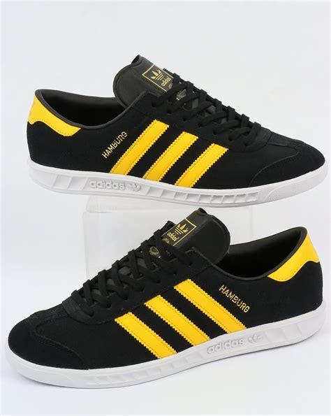 Adidas Hamburg For 01 adidas hamburg trainers black yellow white originals shoes