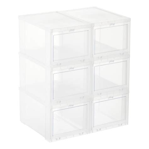 shoe storage container drop front shoe boxes sneaker storage boxes the