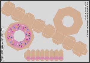 papermau donut gift box paper model for kids by minieco
