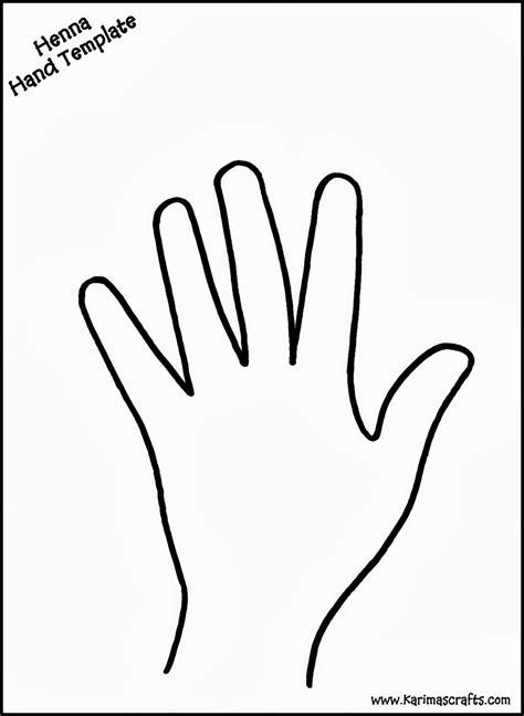 best photos of template of hands printable hand cut out