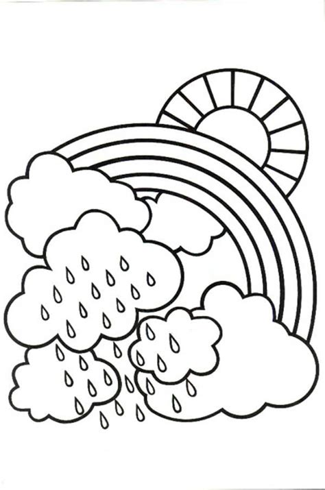 day coloring pages cloudy day free colouring pages