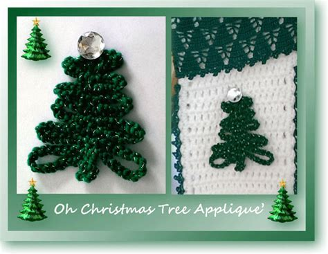 crochet christmas tree applique pattern free oh christmas tree applique free crochet christmas pattern
