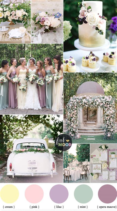 pastel wedding colour palette lilac mauve mint green wedding