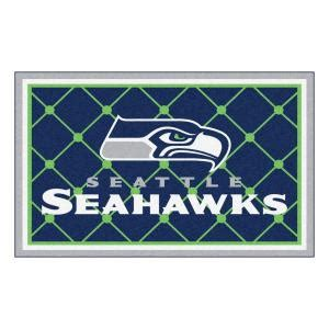 fanmats seattle seahawks 4 ft x 6 ft area rug 6606 the home depot