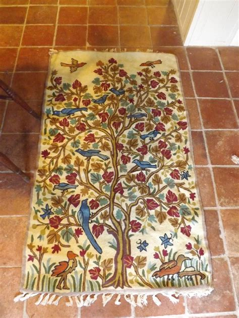 ross rugs arts crafts tree of ross stitch rug hanging 261883 sellingantiques co uk