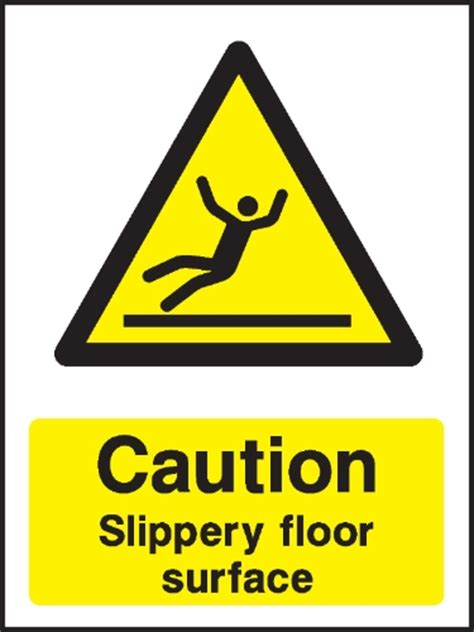 Sign Floor by Caution Slippery Floor Surface Warning Sign