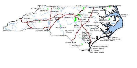 map of carolina state parks carolina national and state parks travel around usa