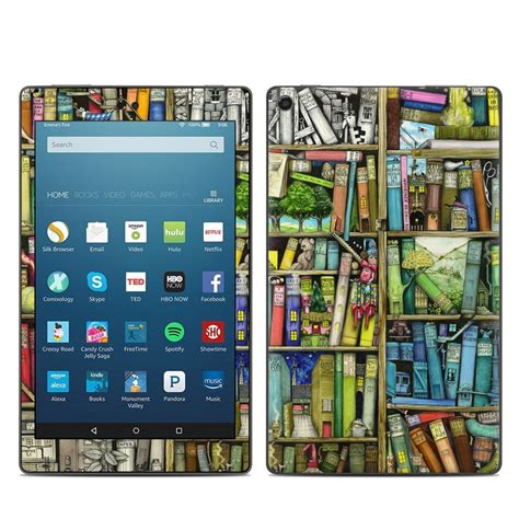 kindle hd8 2017 skin bookshelf by colin