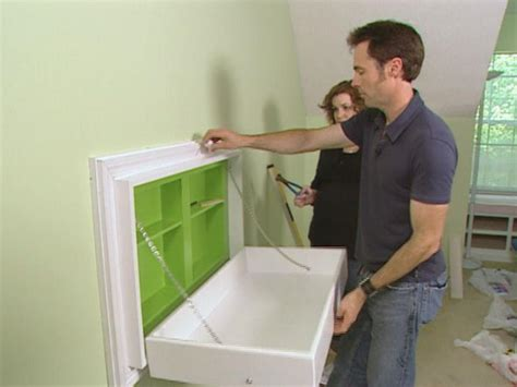 Hanging Changing Table How To Build A Fold Away Changing Table How Tos Diy