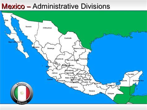 mapa de oaxaca mexico mexico map powerpoint ppt templates interactive mexico