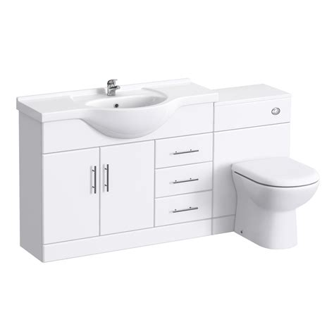 bathroom suites vanity units alaska 1520mm vanity unit bathroom suite high gloss white