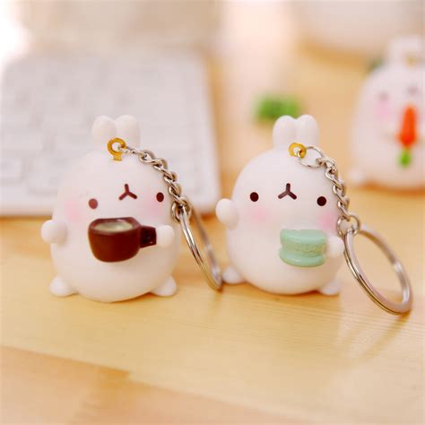 Molang Keychain molang food keychain on storenvy