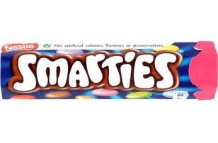 Custom Gift Basket Smarties Hex Tube Box Of 48