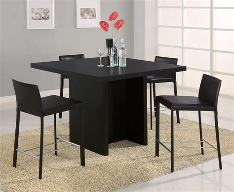 Black Square Dining Table Black Square Pedestal Dining Table 1380 Monarch