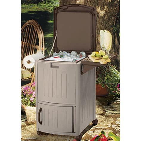 portable outdoor furniture portable patio cooler taupe in patio furniture