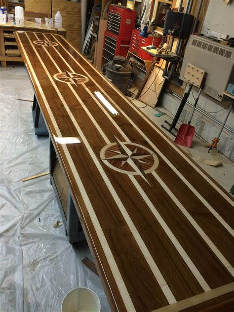 boat table top wood custom boat tables teak and holly counter tops