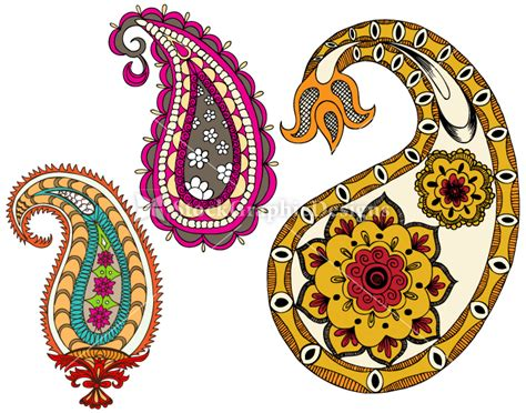 Home Design Elements Indian Paisley Designs Clip Art 41