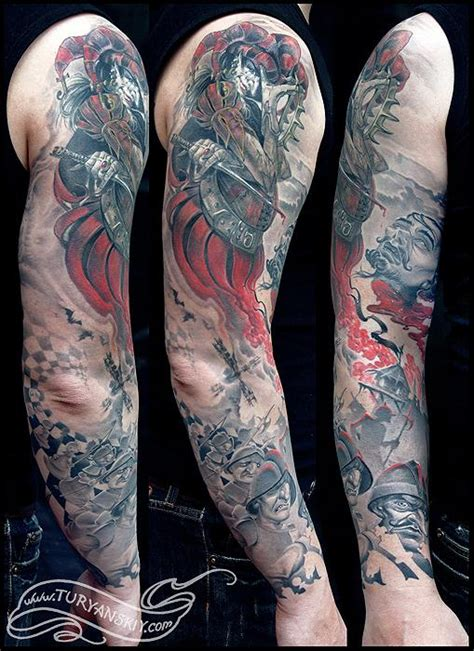 joker and chess king sleeve full by oleg turyanskiy tattoos