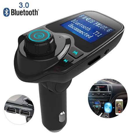 t11 fm transmitter wireless in car bluetooth receiver