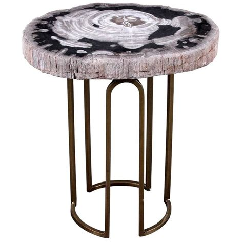 accent tables for sale custom petrified wood and brass accent table for sale at