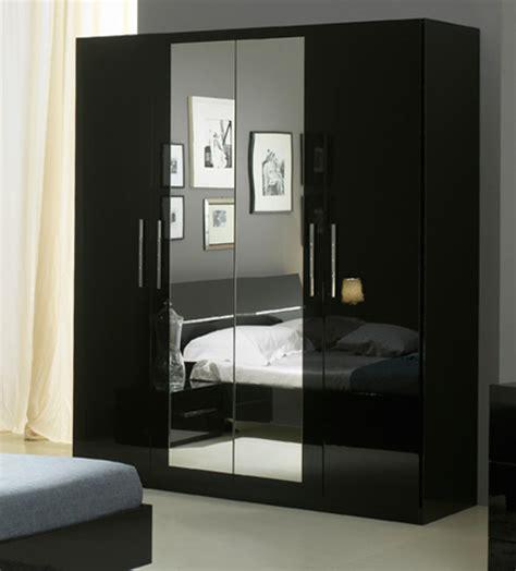 armoire de chambre armoire 4 portes gloria noir